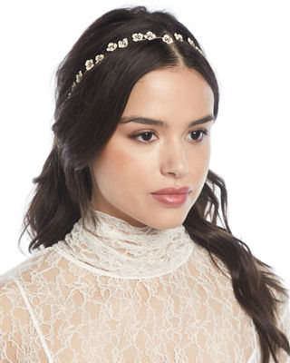 Jennifer Behr Cassiopeia USA-Made Flower-Chain Headband
