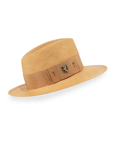 Raiders Straw Trilby Panama Hat