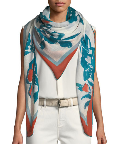 Le Rose di Taif Soffio Cashmere-Blend Scarf
