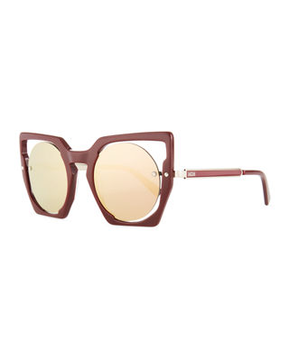 MCM Mirrored Cat-Eye Cutout Sunglasses