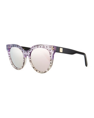 MCM Cat-Eye Zyl?? Acetate Sunglasses
