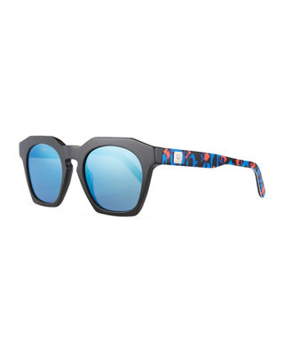 MCM Square Faceted Zyl?? Acetate Sunglasses