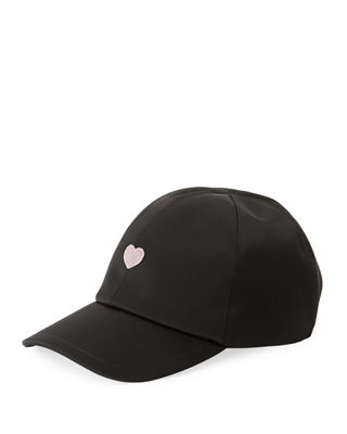 Federica Moretti Heart Embroidered Baseball Cap