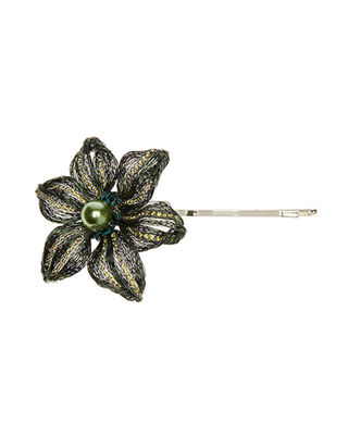 Colette Malouf Chloe Diamond Bobby Pin w/ Glass