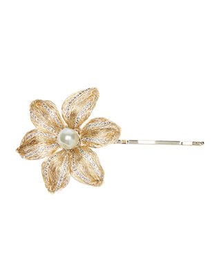 Chloe Diamond Bobby Pin w/ Glass Pearl Bead