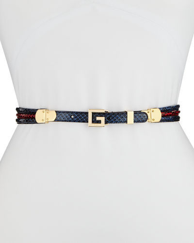Snakeskin Square G Belt