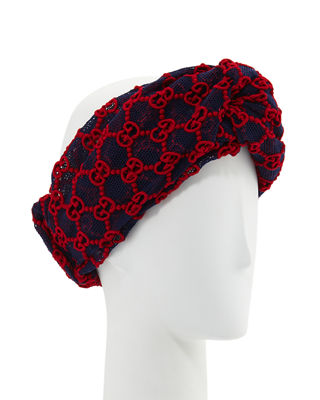 MacramÉ Lace Gg Headband, Red