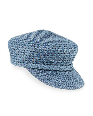Capitan Woven Squishee Newsboy Hat, Denim