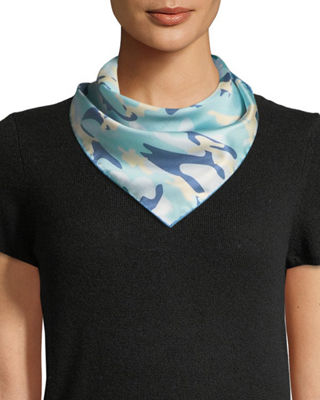 Image 3 of 3: Camouflage Silk Twill Neckerchief