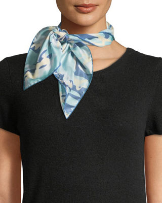 Image 1 of 3: Camouflage Silk Twill Neckerchief
