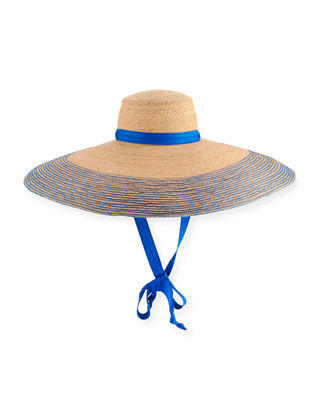 Lola Hats Nomad Wide-Brim Raffia Sun Hat with
