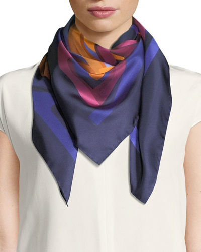 Nest Square Silk Scarf
