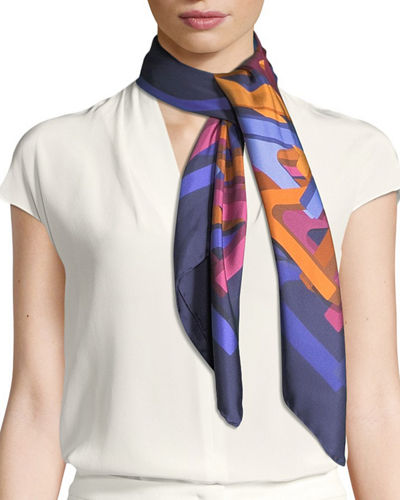 Salvatore Ferragamo Nest Square Silk Scarf