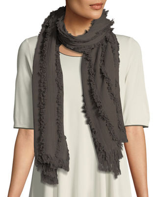 Organic Cotton Fringed Scarf