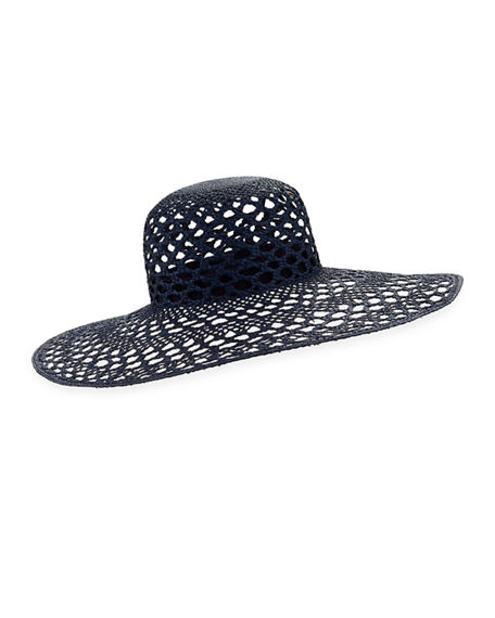 Inverni IRIS PERFORATED STRAW SUN HAT