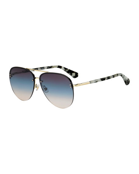 kate spade new york jakaylas mirrored aviator sunglasses