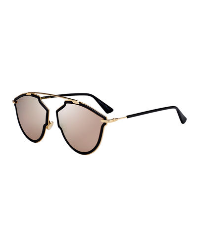 So Real Riss Mirrored Sunglasses