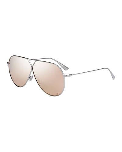 Dior Stell3 Mirrored Aviator Sunglasses
