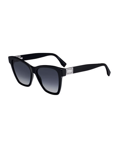 Acetate Gradient Square Sunglasses