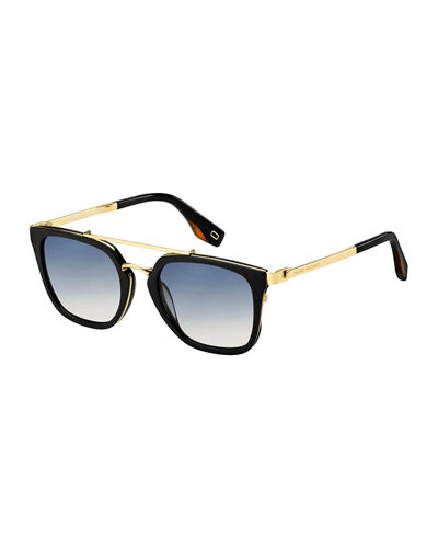 Acetate & Metal Gradient Sunglasses