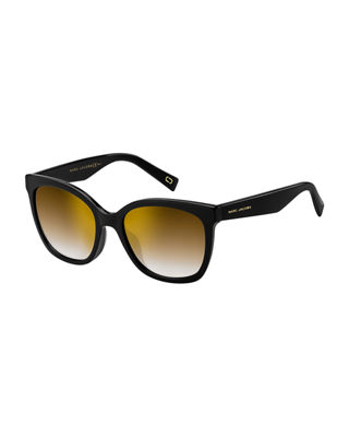Round Mirrored Acetate Sunglasses