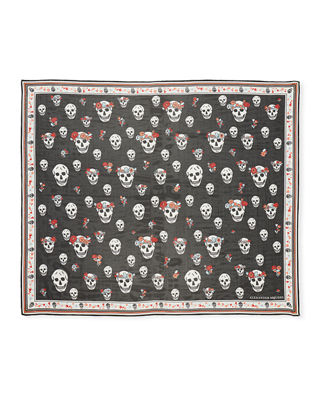 Image 2 of 3: Crown Skull Scarf
