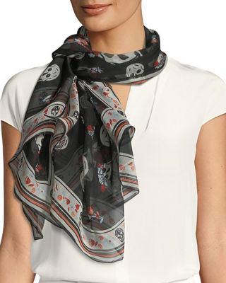 Image 1 of 3: Crown Skull Scarf
