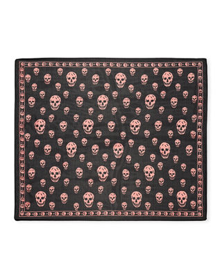Image 2 of 2: Skull-Pattern Scarf