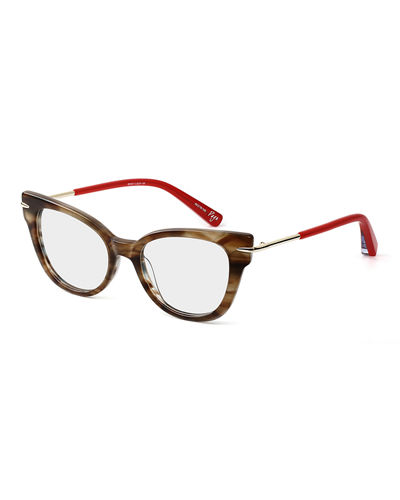 Page Cat-Eye Acetate & Metal Optical Frames