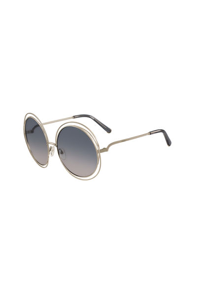 fbbda69a35 Quick Look. Chloe · Carlina Round Wire Metal Sunglasses