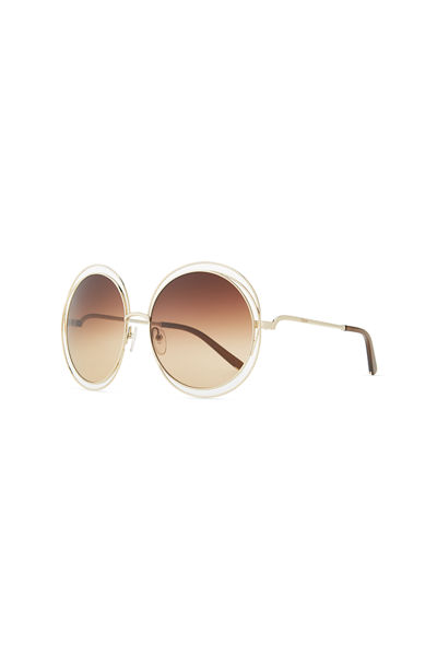 637ff5f2bf9 Quick Look. Chloe · Carlina Round Wire Metal Sunglasses. Available in Brown