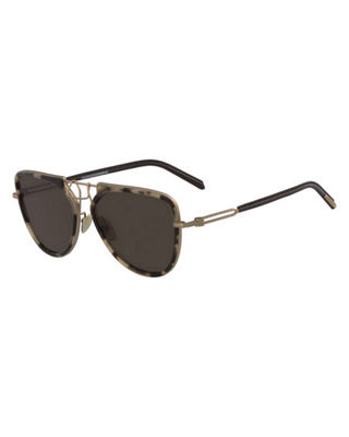 CALVIN KLEIN 205W39NYC Acetate & Metal Aviator Sunglasses