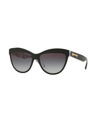 Burberry Doodle Cat-Eye Acetate Sunglasses