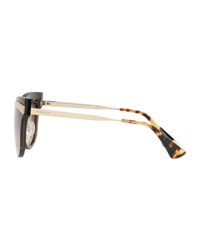 Cat-Eye Propionate Mirrored Sunglasses