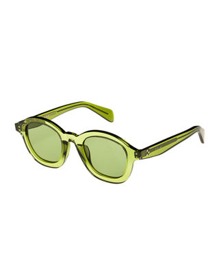 Image 1 of 3: Round Transparent Acetate Sunglasses