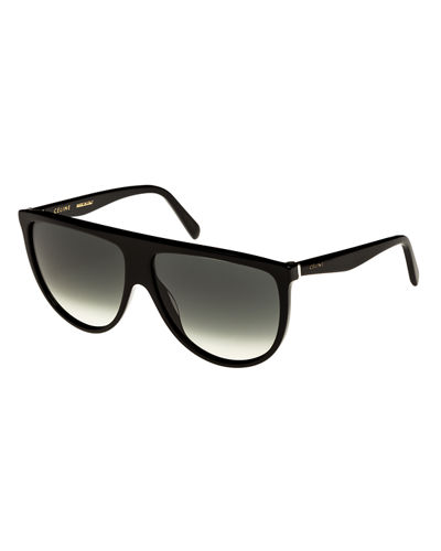 Celine Flattop Gradient Shield Sunglasses