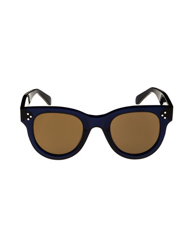 Studded Round Acetate Sunglasses