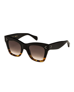 9f65b406ac50 Celine Two-Tone Gradient Cat-Eye Sunglasses