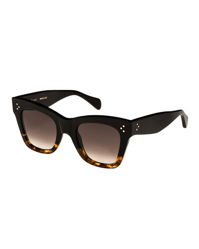 Two-Tone Gradient Cat-Eye Sunglasses