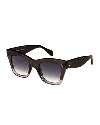 2bef1a171817 Quick Look. Celine · Two-Tone Gradient Cat-Eye Sunglasses