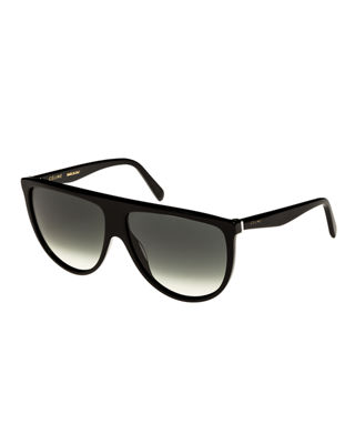Flattop Gradient Shield Universal Fit Sunglasses by Celine