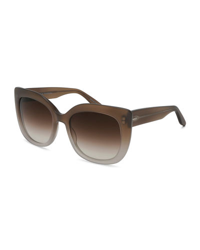 Olina Gradient Chunky Cat-Eye Sunglasses