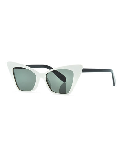 Two-Tone Cat-Eye Acetate Sunglasses