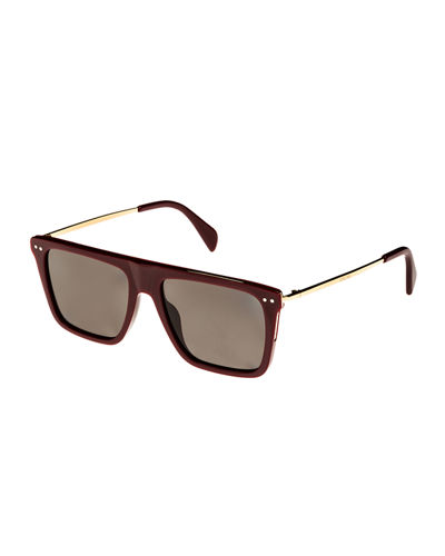 912c124ed6 Quick Look. Celine · Bold Rectangular Acetate Metal Polarized Sunglasses