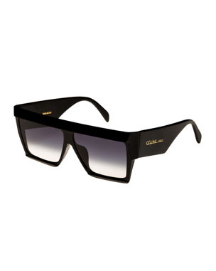 fc5bb0224e Celine Bold Angular Acetate Sunglasses