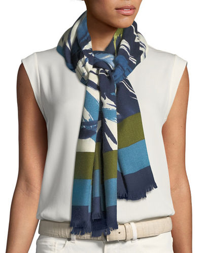 Morning Flower Cashmere-Silk Stole