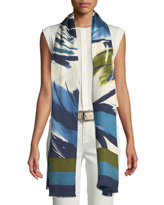 Loro Piana Morning Flower Cashmere-Silk Stole