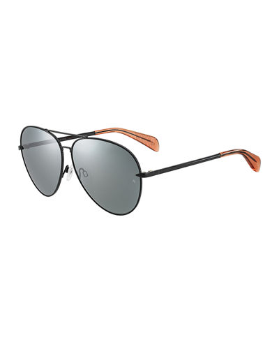 Mirrored Metal Aviator Sunglasses