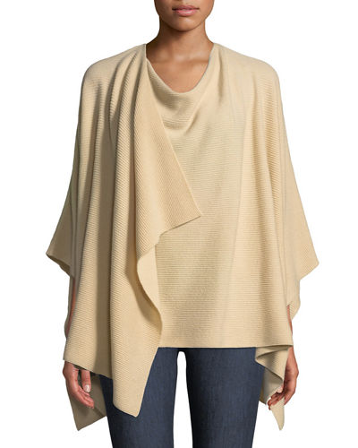Cashmere Ribbed Wrap