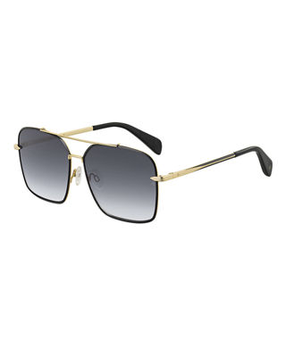 Square Gradient Stainless Steel Sunglasses